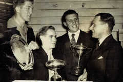 Jack Hutchinson receives his Trophy 100th Game 1950