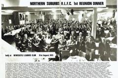 North Suburbs First Reunion Dinner 1973.