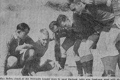 Bob Crane representing Newcastle 1946.
