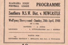 Southern Districts vs Newcastle 1946.