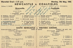 Newcastle vs Coalfields,5th May 1947 (2)