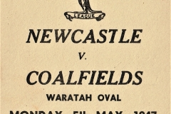 Newcastle vs Coalfields,5th May 1947.