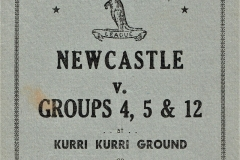 Newcastle vs Groups 4,5&12 Sunday 25th May 1948.