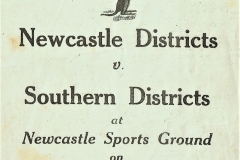 Newcastle vs Southern Districts 1948.