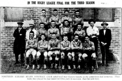 Northern Suburbs First Grade Premiers 1925.