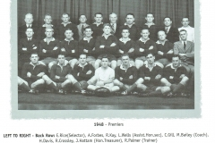 Northern Suburbs First Grade Premiers 1948.