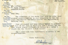 Letter to Bob Crane from North's committee
