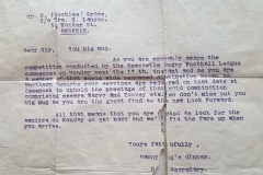 Letter addressed to Harold Grace whilst residing in Redfern