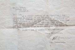 Letter to Harold Grace on game performance for Newcastle 1936.