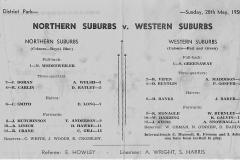 Testimonial North vs West, District Park 1950.