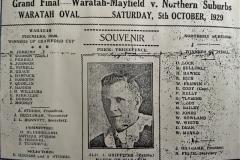 Waratah-Mayfield vs Northern Suburbs Grand Final.1929