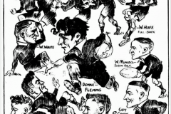 Northern Suburbs Caricatures on players from 1931.